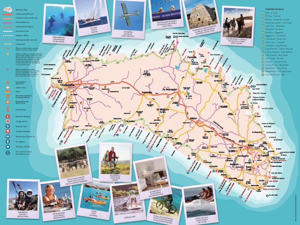 Segunda Edicion Mapa De Menorca Activa Menorca Activa