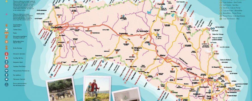 Segunda edición mapa de Menorca Activa